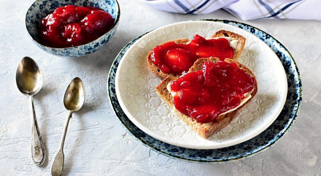 hausgemachte Erdbeermarmelade
