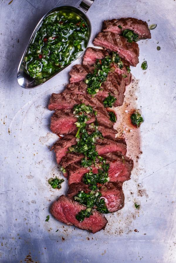 flank steak zubereiten in der gusseisenpfanne
